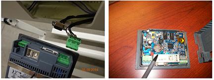 Reemplazar la batería 2 de la HMI