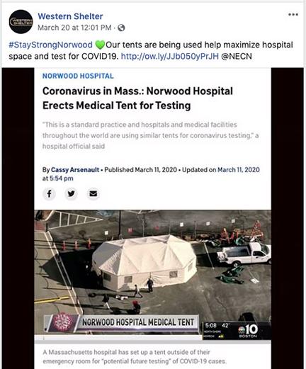Tent Covid Social Media